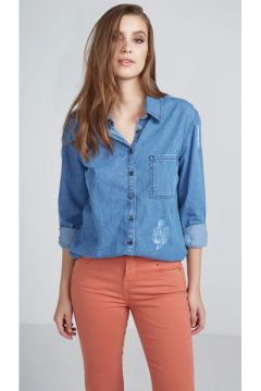 Camisa Jeans Escura - Pop Up