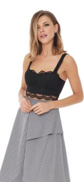 Top Flower Lace Cropped - Tvz