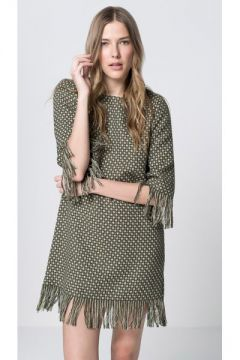 Vestido Evase Tweed Franjas - Pop Up