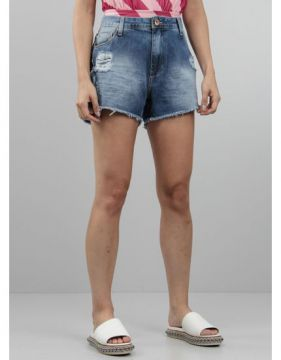 Short Feminino Jeans Destroyed - Tng