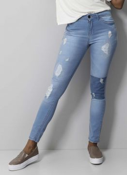 LS CALCA JEANS SKYNNY DESTROYED LM - 96 MEDIA