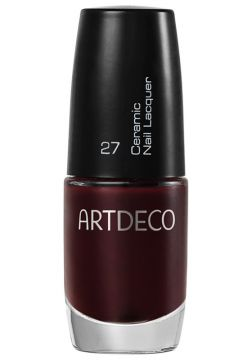 Esmalte Artdeco Ceramic Nail Lacquer 27 Black Red