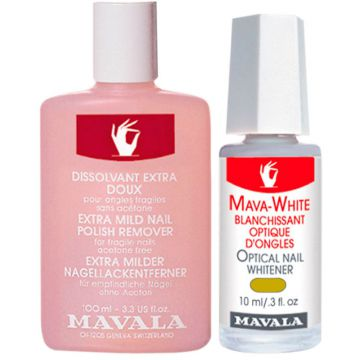 Kit Mavala Mava White & Pink Nail Polish