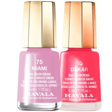 Kit Mavala Mini Colours Miami e Dakar de Esmaltes