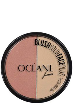 Océane Blush Your Face Coral Peach - Blush Em Pó 9,3g