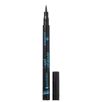 Essence Waterproof 01 Deep Black             - Caneta Deline