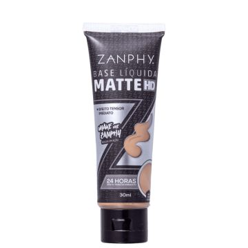 Zanphy Matte Hd 03 Bege Natural - Base Líquida 30ml