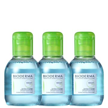 Kit Bioderma Sébium H2o Fresh- Demaquilantes 3x100ml