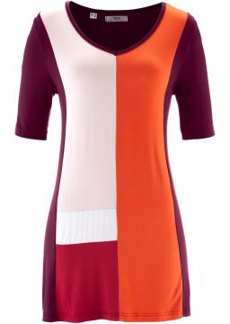 Blusa Colour Block Oversized - Bon Prix