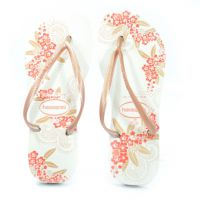 Chinelo Havaianas Slim Organic Branco Rose Gold - 4132823
