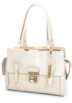 Bolsa Alça Dupla Fellipe Krein Croco Off White - B021153