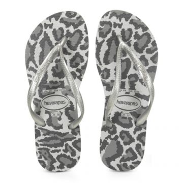 Chinelo Havaianas Slim Animals Cinza Gelo - 4103352