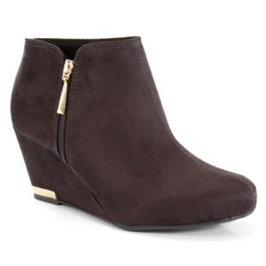 Ankle Boot Anabela Moleca Café - 5274100