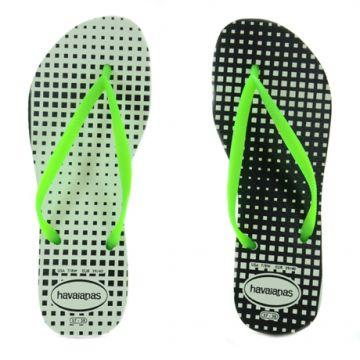 Chinelo Havaianas Slim Graphic Branco Verde - 4123494