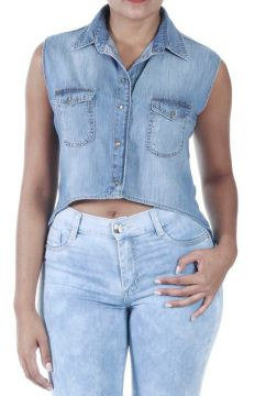Camisa Jeans Mullet-240810 - SAWARY