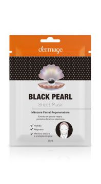 Máscara Facial Regeneradora Black Pearl Sheet Mask - Dermage