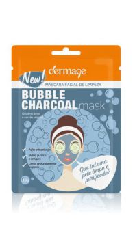 Máscara Facial De Limpeza Bubble Charcoal Mask - Dermage