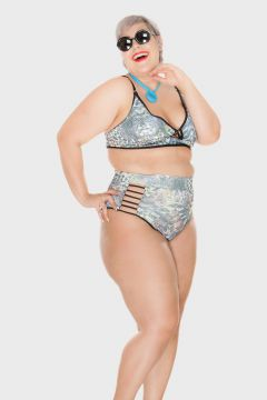 Parte de Baixo Hot Pants Strappy Estilizado Plus Size