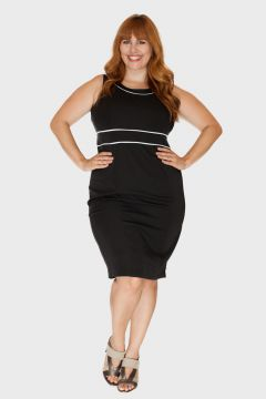 Vestido Executiva Midi Plus Size