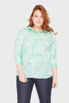 Camisa Bia Floral Plus Size