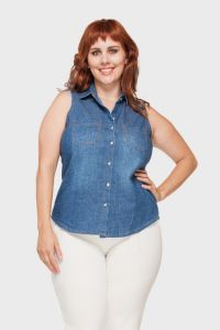 Camisete Jeans Plus Size