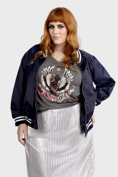 Jaqueta Bomber Fashion Dogs Plus Size