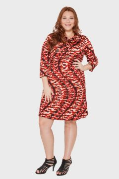 Vestido Abstrato Plus Size