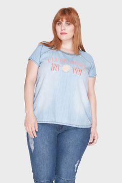 Camisa Estampada Plus Size