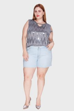Short Delavê Plus Size