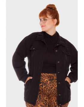 Jaqueta Oversized Destroyed Plus Size - Attribute