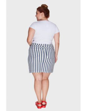 Mini Saia Listrada Plus Size - Attribute