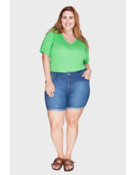 Short Barra Virada Plus Size - Attribute