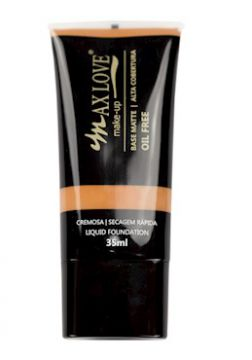 Base Matte Alta Cobertura Oil Free Cor 26- 35ml - Max Love