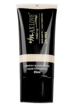 Base Matte Alta Cobertura Oil Free Cor 21- 35ml - Max Love