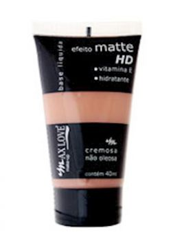 Base Líquida Efeito Matte HD Natural 08 - 40ml - Max Love