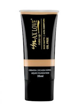 Base Matte Alta Cobertura Oil Free Cor 22- 35ml - Max Love