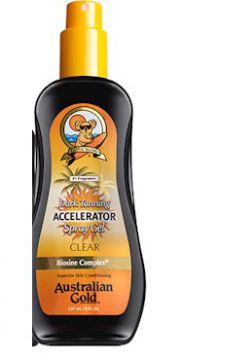 Spray Bronzeador Accelerator Dark Tanning Spray Gel Clear -
