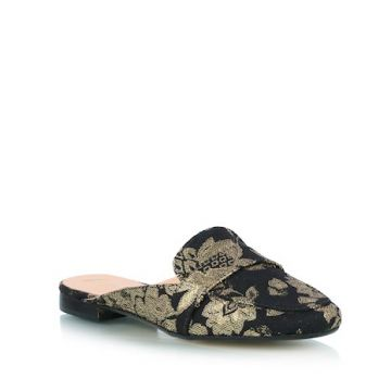 OPEN LOAFER EM JACQUARD OURO