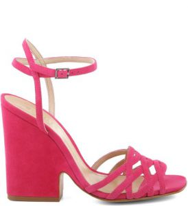 Sandália Cut Out Wedge Rose Pink