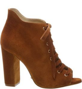 Ankle Boot Open Toe Wood