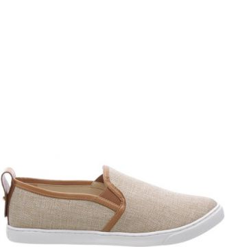 Shoes Schutz Stamp - Slip On Linen Natural SCHUTZ