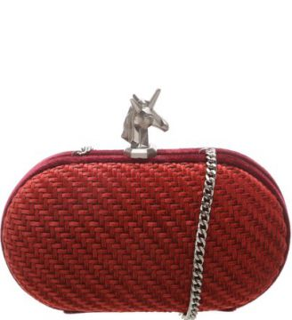 Clutch Velvet Unicorn Rubi Wine   SCHUTZ