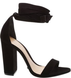 Sandália Block Heel Lace Up Black   SCHUTZ