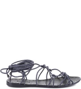Rasteira Lace Up Black   SCHUTZ