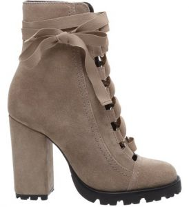 Combat Boots Sola Tratorada Leather Mouse   SCHUTZ