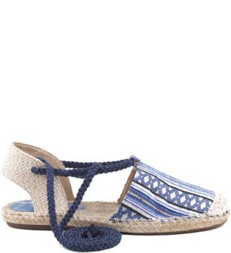 Espadrille Ethnic Lace Up Light Blue SCHUTZ