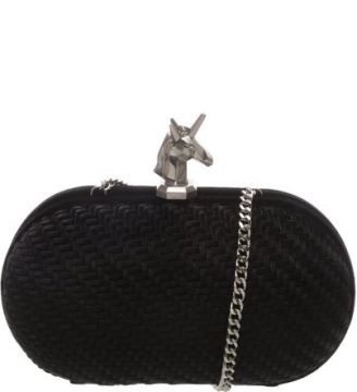 Clutch Velvet Unicorn Black   SCHUTZ