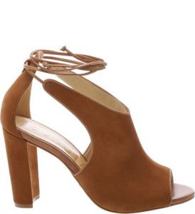Sandália High Heel Lace Up Wood   SCHUTZ
