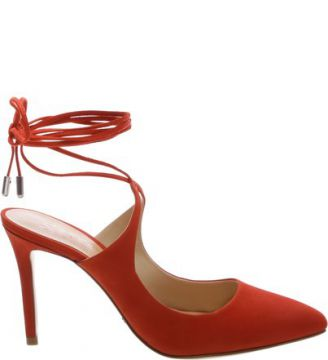 Scarpin Lace Up Nice Orange   SCHUTZ