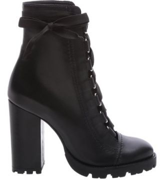 Combat Boots Sola Tratorada Leather Black SCHUTZ